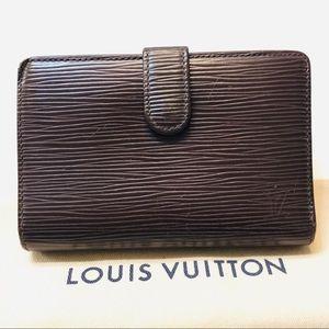 LOUIS VUITTON Brown Epi French Purse Wallet